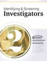 Picture of CRA Training Series: Volume 2 - Identifying and Screening Investigators (2018)